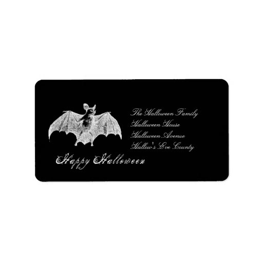 Vampire Bat Wishes Personalized Address Labels