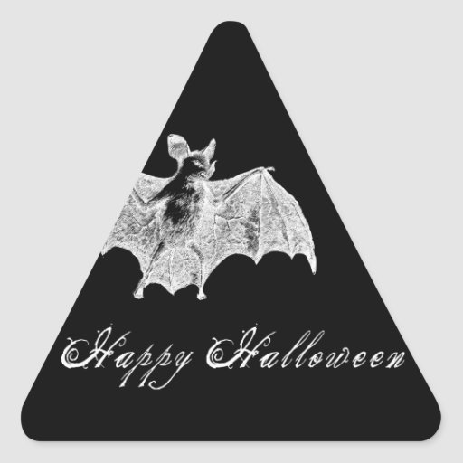 Vampire Bat Wishes Triangle Sticker