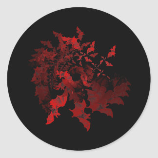Vampire Bats Red Sticker