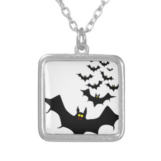 Vampire Bats Silver Plated Necklace
