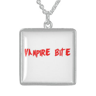 Vampire Bite Sterling Silver Necklace
