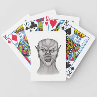 Vampire black and white Design Bicycle Playing Cards