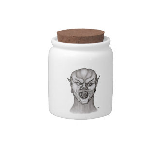 Vampire black and white Design Candy Dish