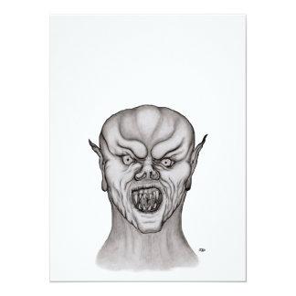 Vampire black and white Design Card