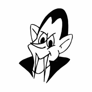 vampire black white head photo cutout