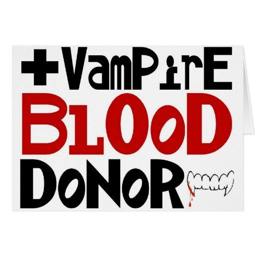 Vampire Blood Donor Card