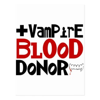 Vampire Blood Donor Postcard