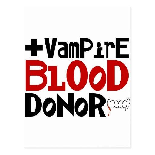 Vampire Blood Donor Postcard