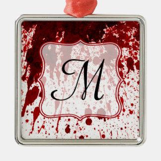 Vampire Blood Dripping Monogram Initial Ornament