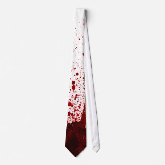 Vampire Blood Dripping Pool Crimson Red Mens Tie
