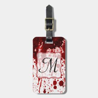 Vampire Blood Dripping Pool Monogram Luggage Tag