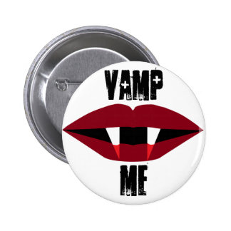 Vampire Blood Red Lips Button Vamp Me