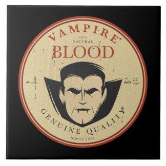 Vampire Blood Vintage Halloween Label Ceramic Tile
