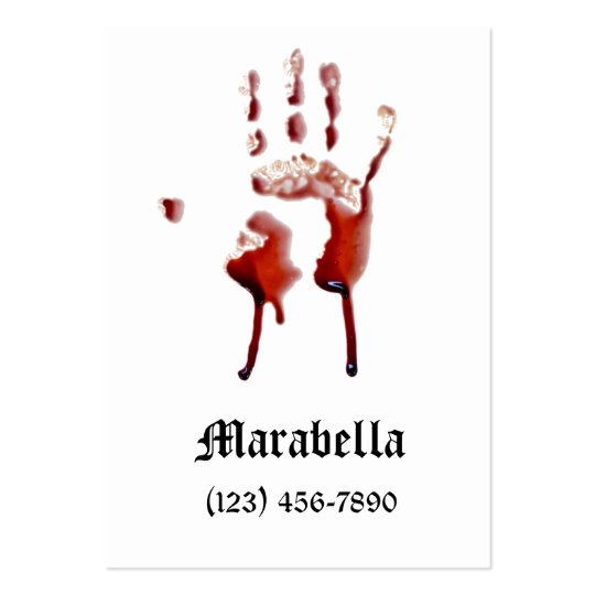 Vampire Bloody Hand Print Business Card