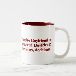 Vampire Boyfriend or Werewolf Boyfriend Mugs