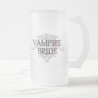 Vampire Bride Frosted Glass Beer Mug