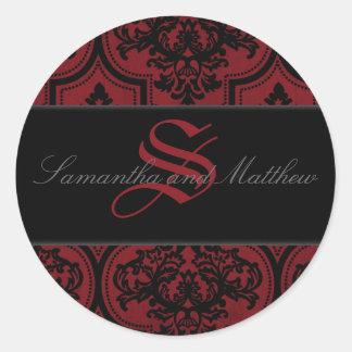 Vampire Bride Monogram Sticker B2