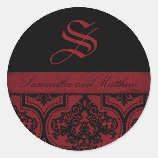 Vampire Bride Monogram Sticker C