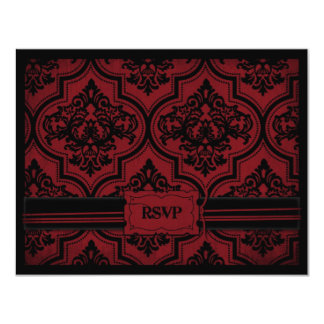 "Vampire Bride RSVP Card A 4.25"" X 5.5"" Invitation Card"