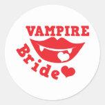 vampire bride sticker