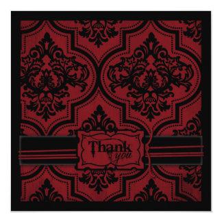 Vampire Bride TY Square 5.25x5.25 Square Paper Invitation Card