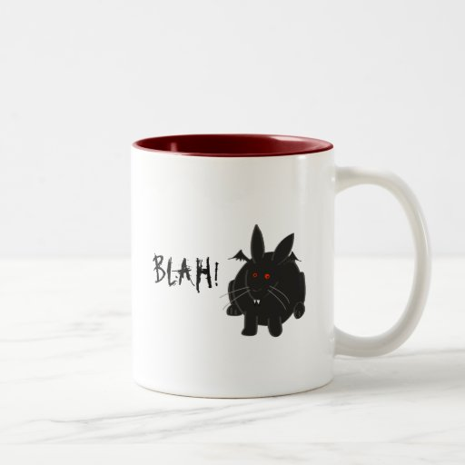 Vampire Bunneh Two-Tone Coffee Mug