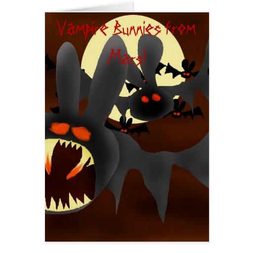 Vampire Bunnies from Mars Greeting Card