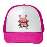 Vampire Bunny Doodle Art Hat