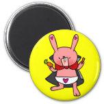 Vampire Bunny Doodle Art Magnet