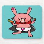 Vampire Bunny Doodle Art Mousepad