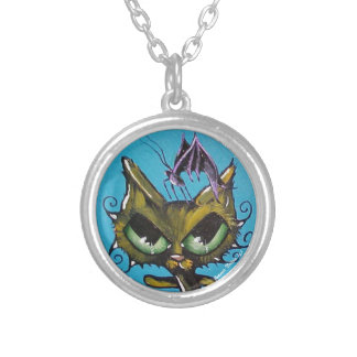 vampire butterfly cat necklace