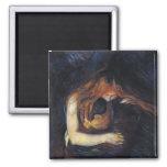 Vampire by Edvard Munch Fridge Magnets
