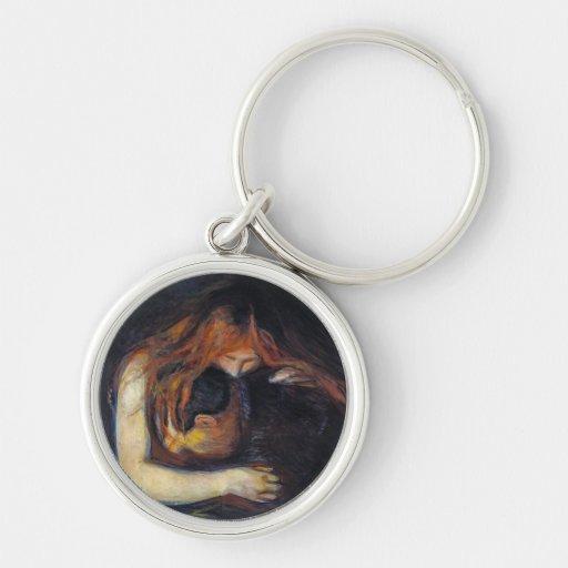 Vampire by Edvard Munch Keychain
