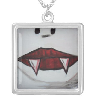 Vampire By Tee Joe McArt Silver Plated Necklace