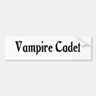 Vampire Cadet Bumper Sticker