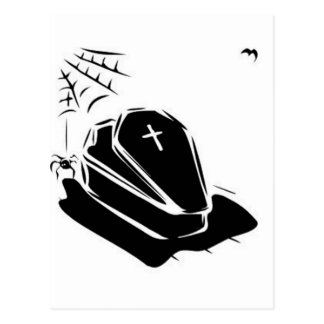 Vampire Casket Postcard