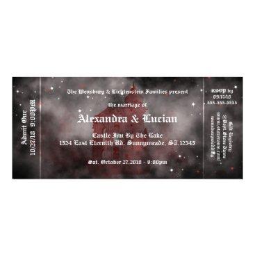 Halloween Themed Vampire Castle Gothic Wedding Ticket Invitations