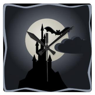 Vampire Castle Square Wall Clock