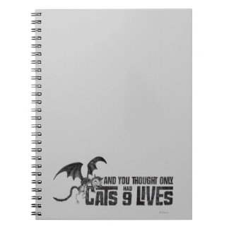 Vampire Cat: And You Thought Only Cats Had 9 Lives Spiral Notebook