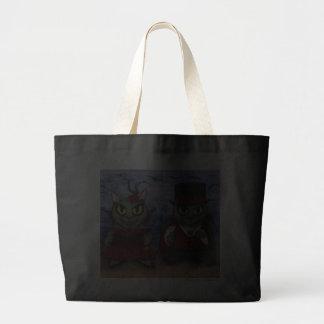 Vampire Cat Couple Gothic Cemetery Fantasy Art Bag