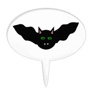 Vampire Cat Faced Bat Halloween Cake Pick