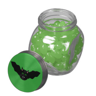 Vampire Cat Faced Bat Halloween Candy Tins