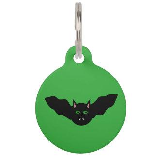 Vampire Cat Faced Bat Halloween  Custom Dog Tag