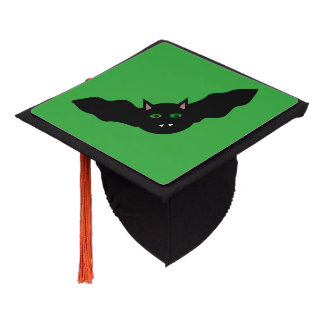 Vampire Cat Faced Bat Halloween Graduation Topper