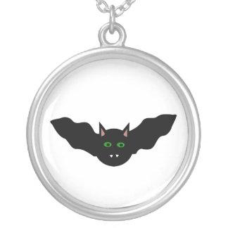 Vampire Cat Faced Bat Halloween Necklace