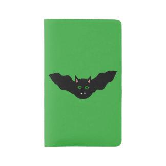 Vampire Cat Faced Bat Halloween Notebook Cover