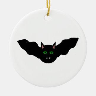 Vampire Cat Faced Bat Halloween Ornament
