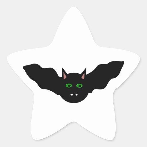 Vampire Cat Faced Bat Halloween Stickers