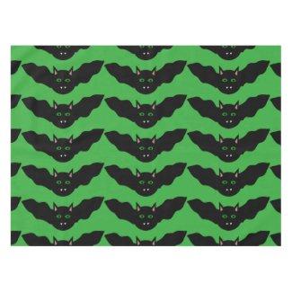 Vampire Cat Faced Bat Halloween Tablecloth