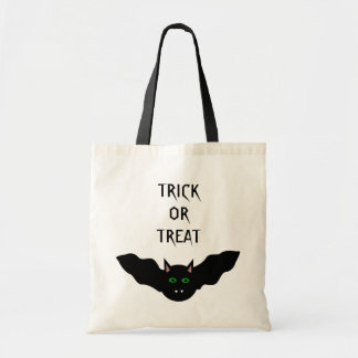 Vampire Cat Faced Bat Halloween Trick or Treat Bag